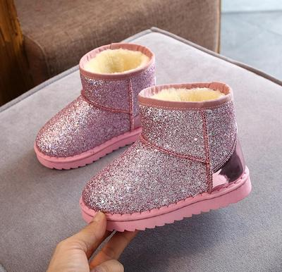 2020 Winter Kids Fashion Snow Boots Thick Child Cotton Shoes Warm Plush Soft Bottom Baby Girls Boots Winter Ski Boot for Baby
