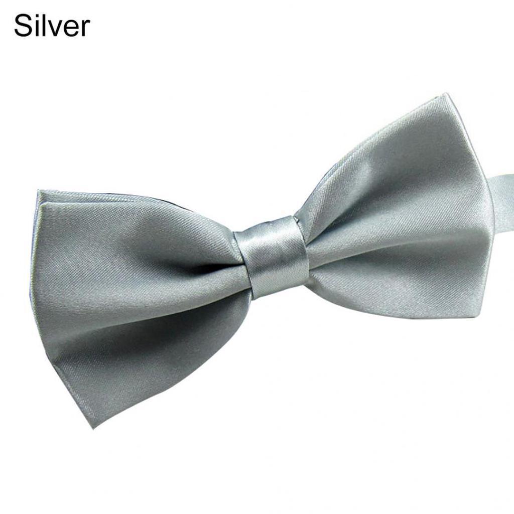 Men Wedding Ties Adjustable Satin Tuxedo Necktie Classic Party Novelty Bow Tie j