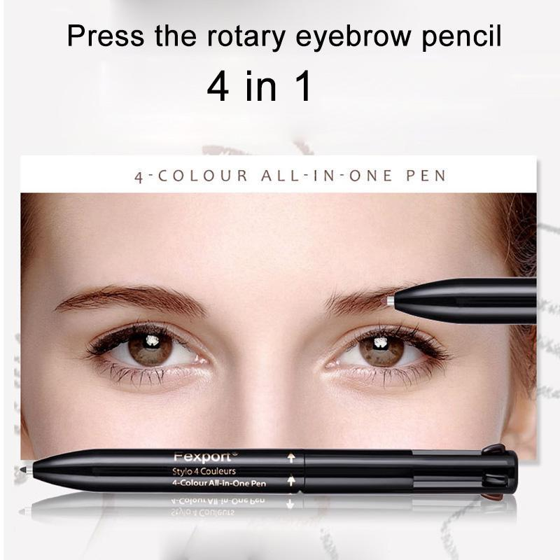 Fexport Eyebrow Enhancers Pencil Waterproof 4 In 1 Eye Brow Tattoo Liner Makeup Tool Buy At A Low Prices On Joom E Commerce Platform