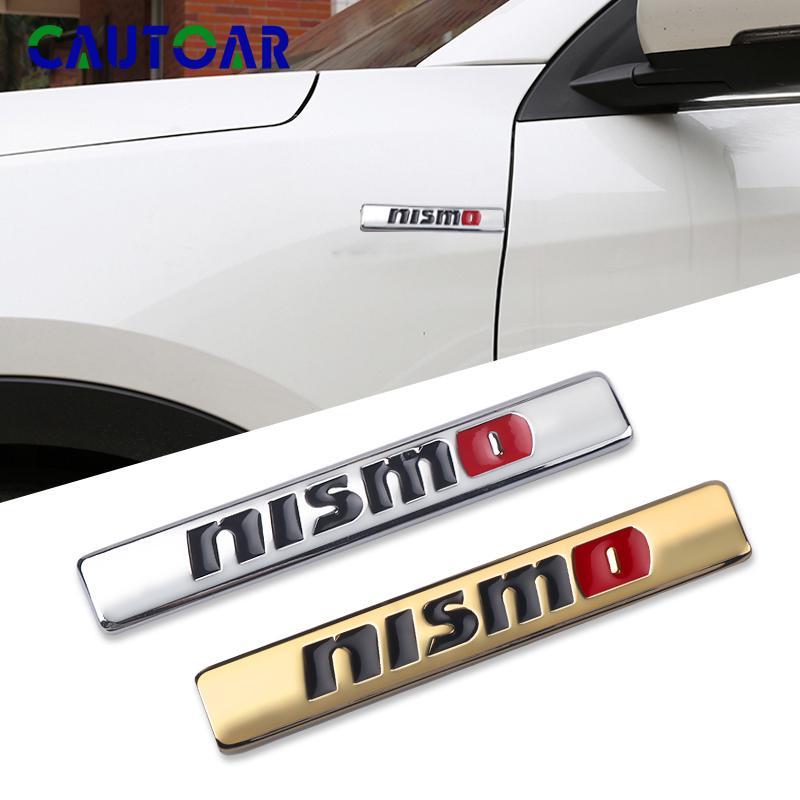 2Pcs Auto New Nismo Car Decals Stickers Metal Emblem Logo Accessories For Nissan