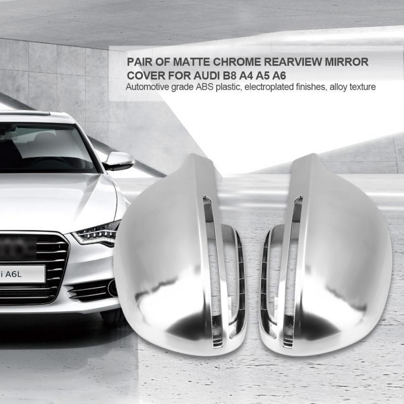 Protection Cap for A4 S4 B6 B7 Car Wing Mirror Replacement Covers Nickel Electroplating Process and Matte Chrome Color