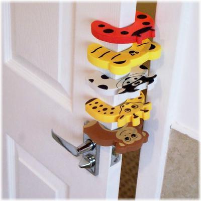Floor Door Stopper Child Safety Products Door Clip Bar Baby Anti-Collision Anti-Pinch Door Plug Door Stop Baby Safety Anti-Pinch Hand Door Card Yellow