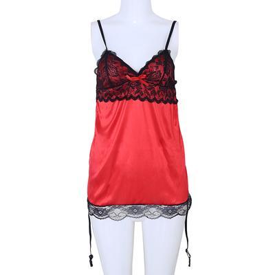 031983cd7 Sexy Lingerie Dress Lace Women s Underwear Black Babydoll Sleepwear + G- string