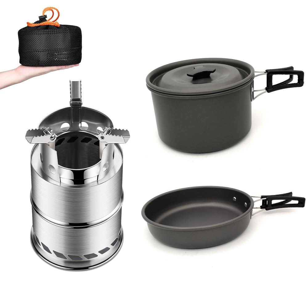Lightweight Aluminum Frying Pan w// Foldable Handle 5cm Camping 33 Outdoor