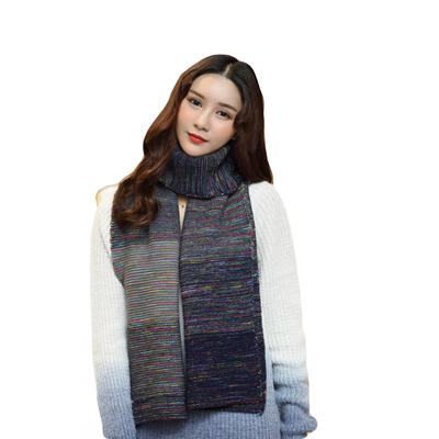 Autumn And Winter Mens Cashmere Scarf Thick Warm Color Matching Collar Business Scarf