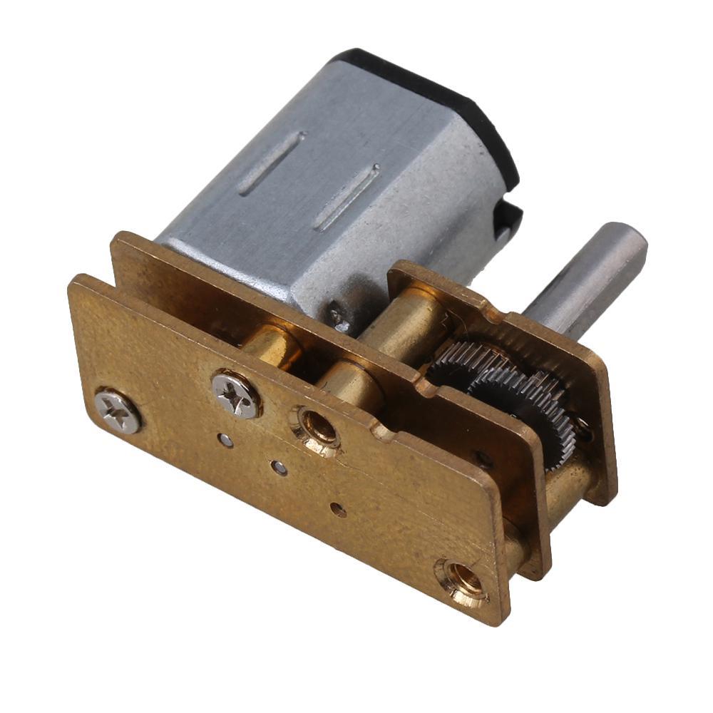 10mm DC 12V 200RPM GM12-N20 Micro Electric DC Gear Box Motor Silver Gold