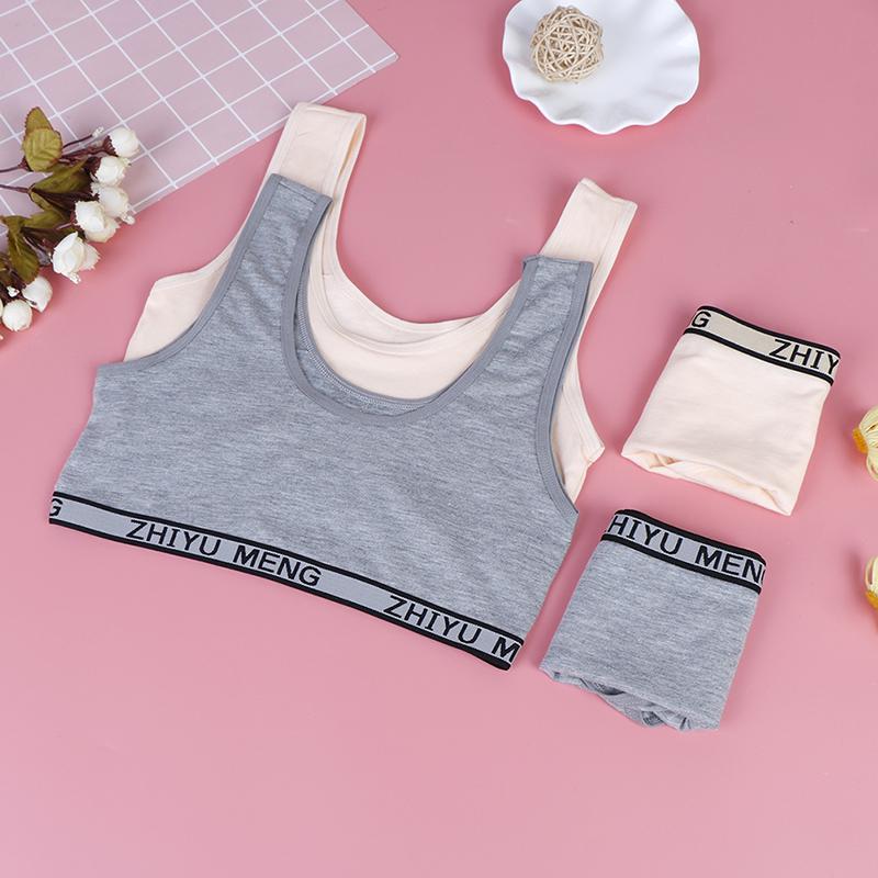 briefs kids sport undies bustier crop top ME 1set bra girls underwear bra vest