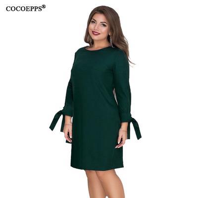 df5767b461d 5xL 6 X больших размеров женщин длинные плюс размер платья повседневные дамы  управления Элегант партии Зеленое