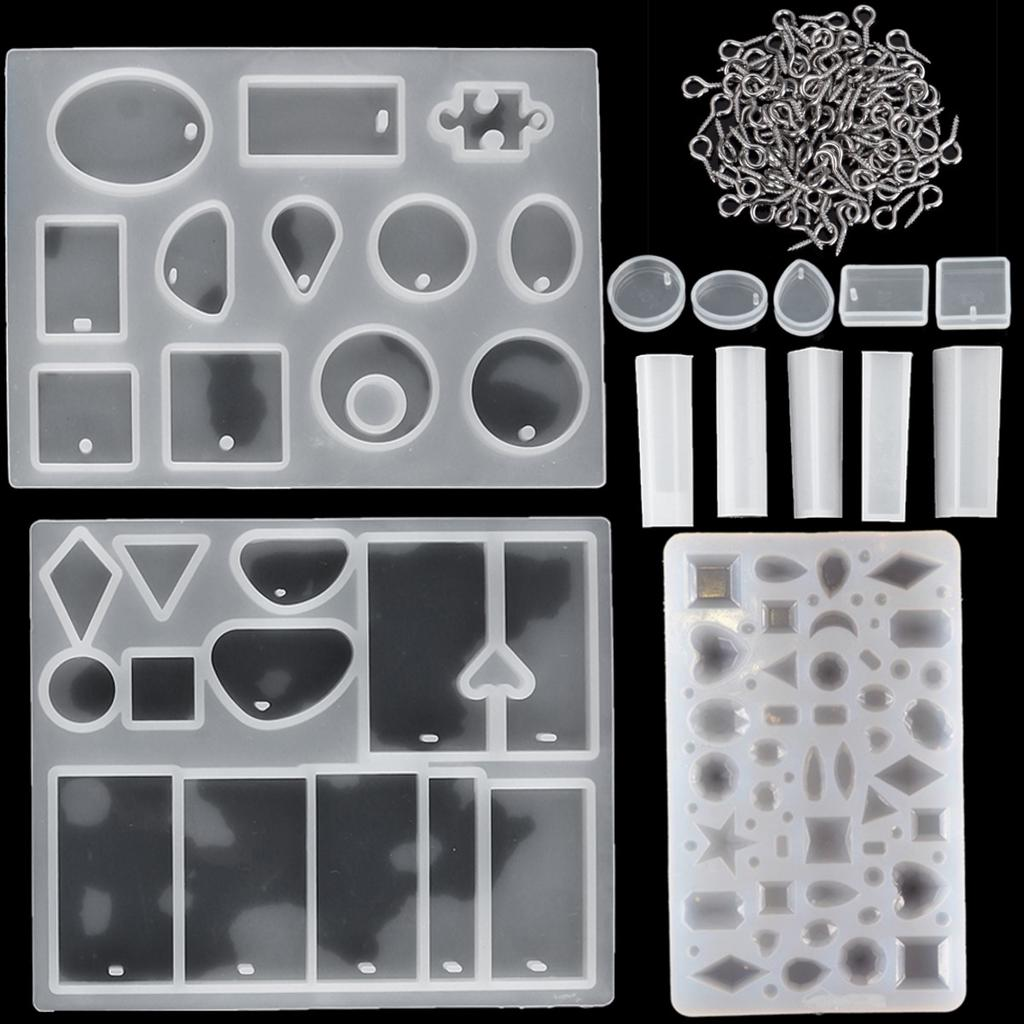 2021 Silicone Resin Molds Crystal Craft Kit Pendant DIY Mold NEW Making Z1N2