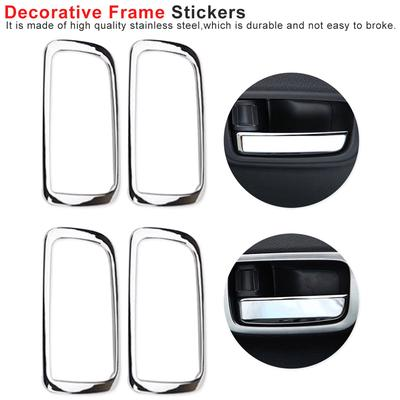 8x Chrome Door Handle Covers Trims Fit for Mitsubishi Outlander sport RVR Lancer