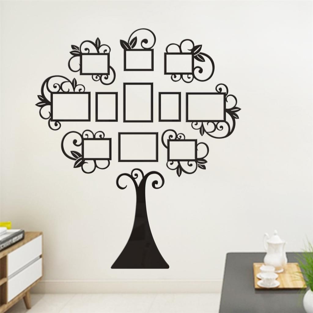 3D Photo Frame Family Tree Pictures Collage Wall Stikers Hanging Home Dec
