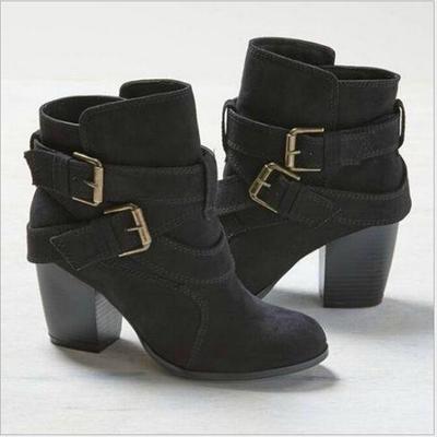 a31b6b0d7 Otoño invierno mujer damas Casual Zapatos Martin botas Botines Altos de  tacón cremallera cargador de la