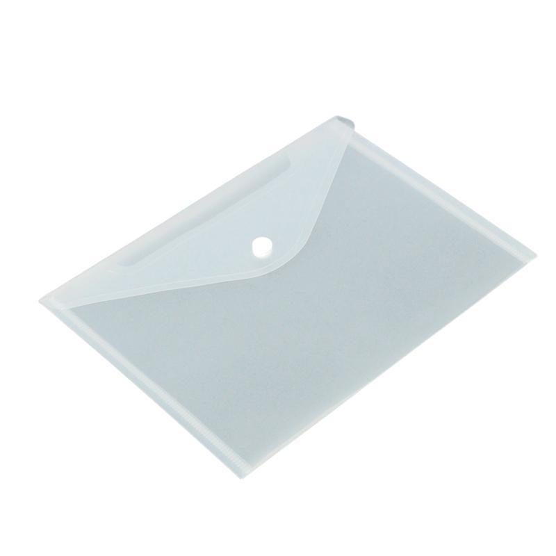 12pcs A5 Plastic Stud Document Wallets Folders Filing Paper School Pen  new