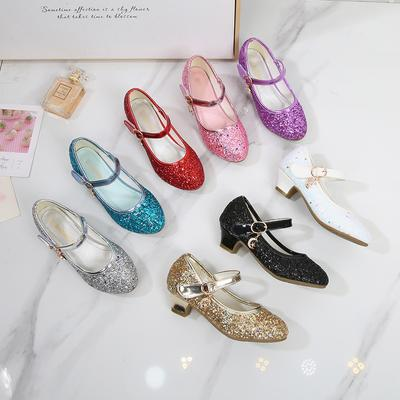Children's Shoes Baby Performance Crystal Shoes High Heels Princess Shoes