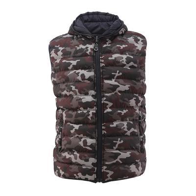 Взимку безрукавки моди оборотні теплий пальто камуфляж друкованих  застібку-блискавку чоловіки вниз жилет abf10229490ee