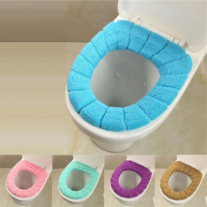 Warm Soft Bathroom Toilet Seat Cloth Closestool Washable Lid Top Cover Pad  J