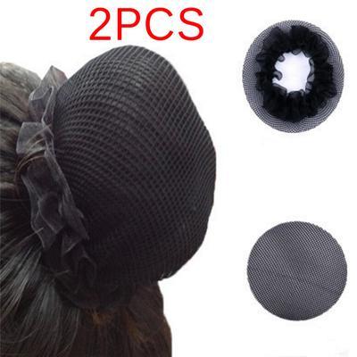2 piezas peluquería bricolaje decoración Ballet negro pelo red ...