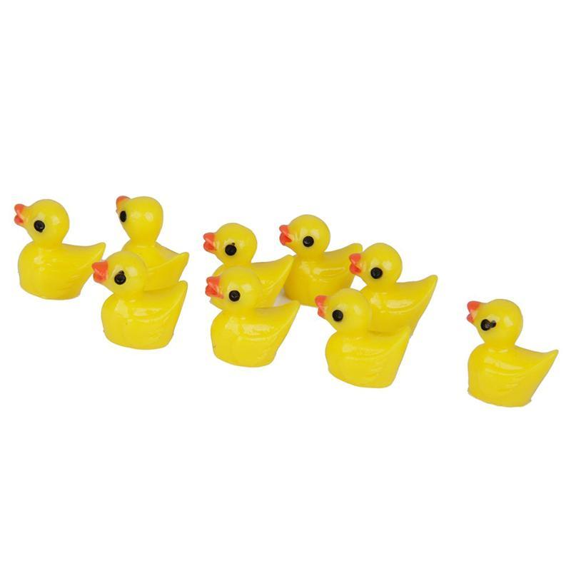 Dollhouse Miniature Pet Yellow Rubber Duck Animal CUTE 2cm H