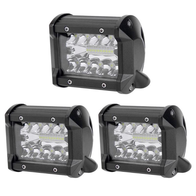 WEISIJI/® 52 744W Vierreihige LED-Arbeitslichtleiste Hochwasser-Spot-Combo Beam-Fahrlichter Nebelscheinwerfer Offroad-Beleuchtung f/ür SUV UTV ATV Truck 4x4 Gebogene LED-Lichtleiste