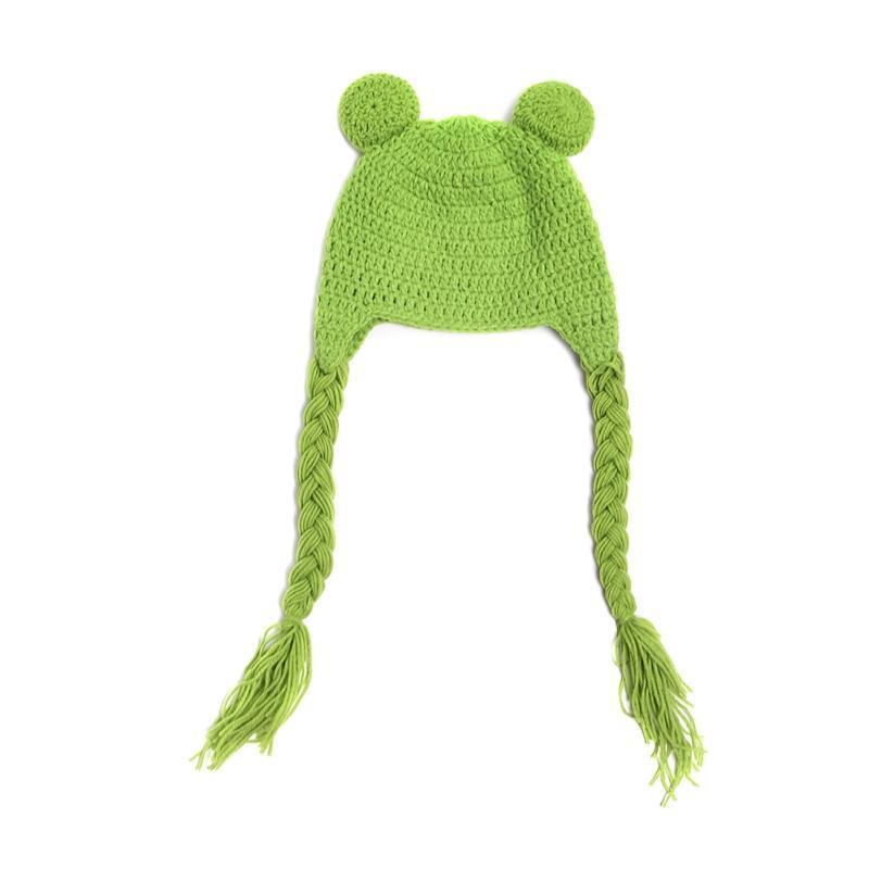 40cm lindo bebé niño niña ganchillo gorro traje sombrero rana tejer ...