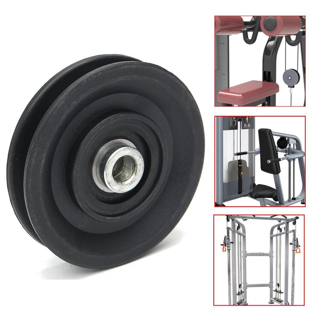 1PC Bearing Pulley Nylon Wheel Cable Gym Universal Fitness Equipment Part Black