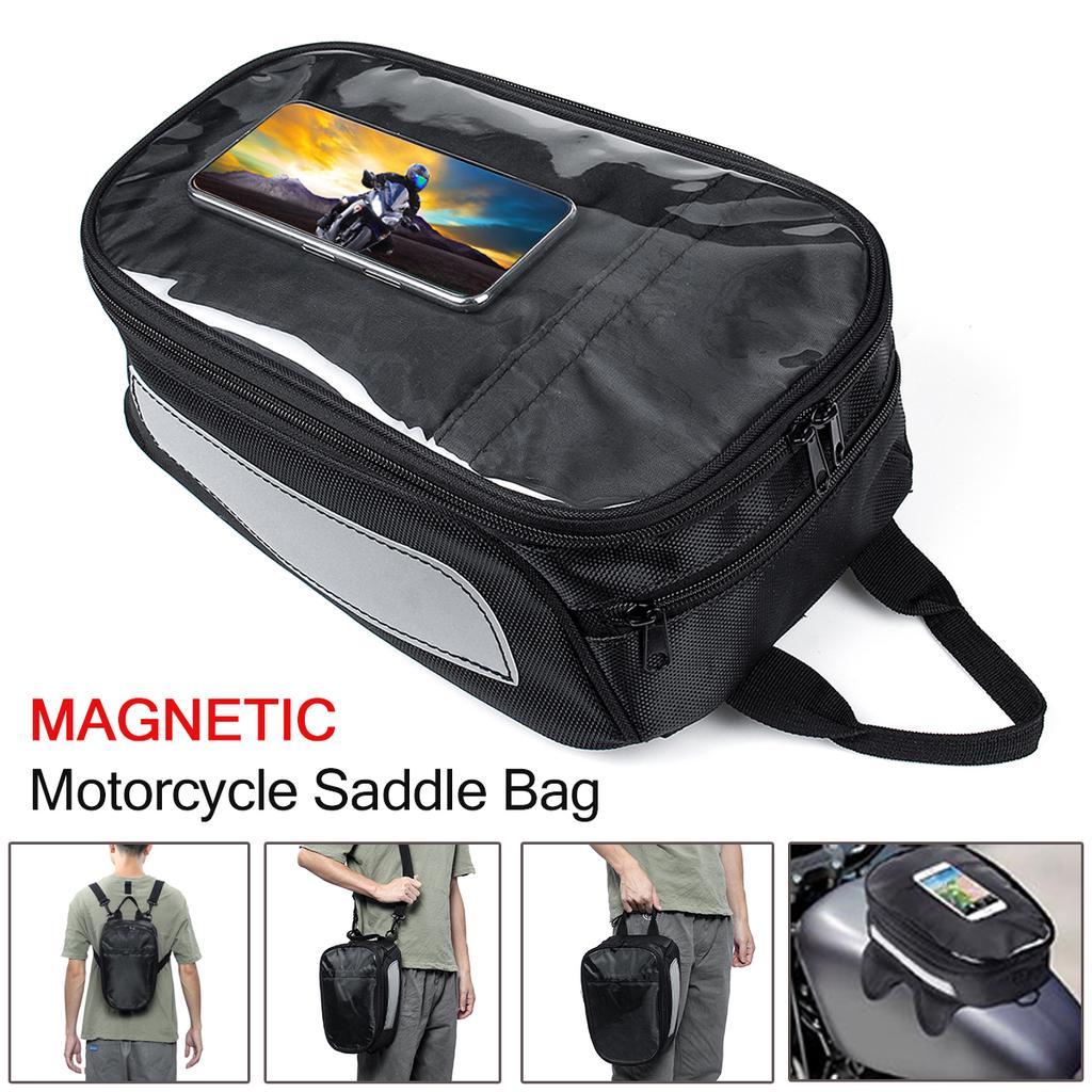 Motorcycle Rear Seat Tail Back Saddle Pack Waterproof Shoulder Bag