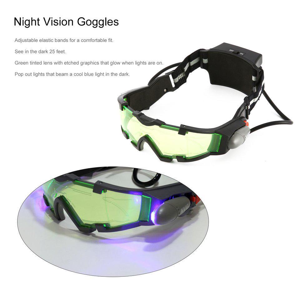 Grüne Linse Nachtsichtgerät verstellbaren Gummiband Brille Eyeshield ...