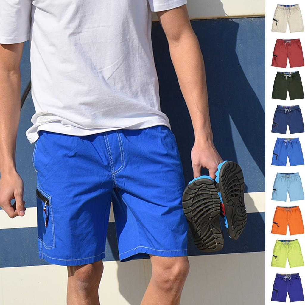 Quick-drying Beach Pants Sport Shorts Leisure Loose Hot Pants Show Thin,Blue