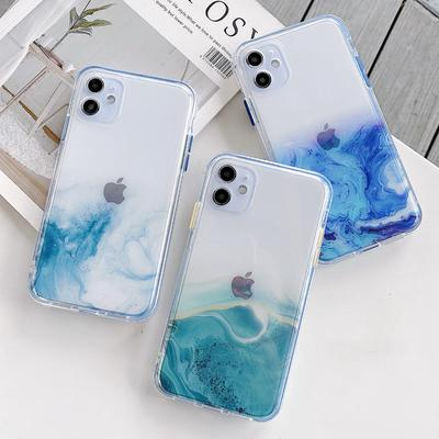 Gradient Case For iPhone 13 12 Mini 12 Pro 11 7 8 Plus iPhone XR X XS MAX Ultra Thin Case Clear TPU Phone Case For iPhone SE 2020 Cover