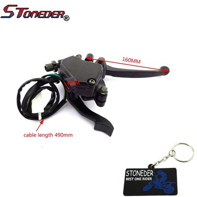 STONEDER 7/8'' Double Alloy Chinese ATV Handle Brake Lever Thumb Throttle  For 50-120cc ATV Quad