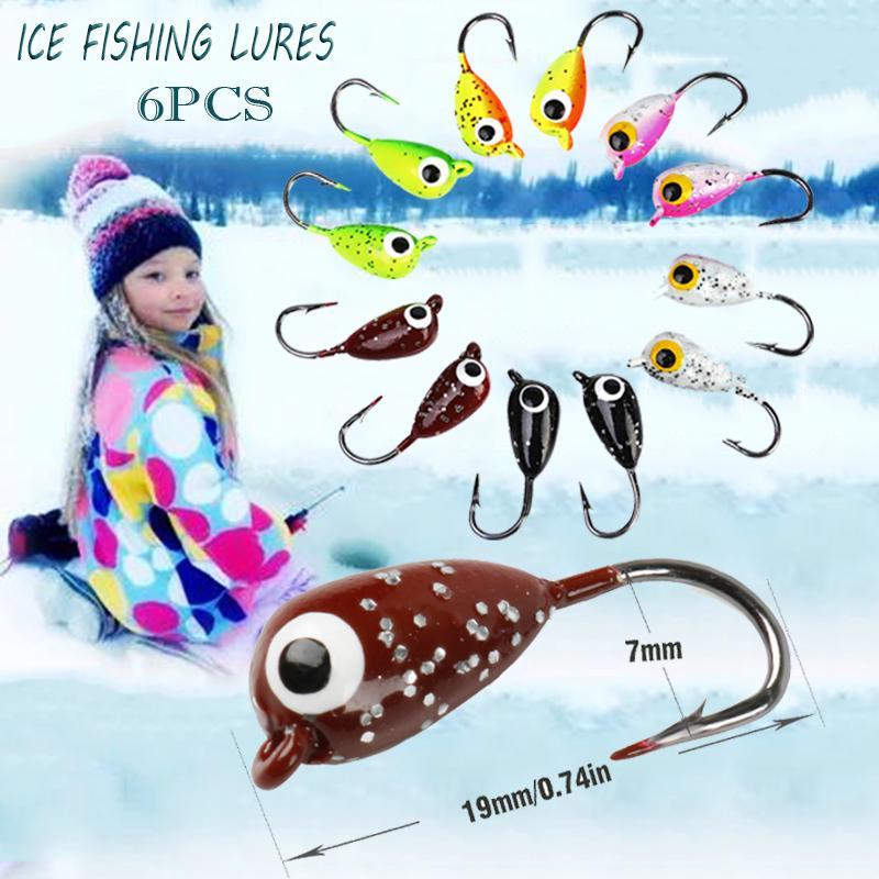 6PCS 1CM Fishing Lure Professional Bait Ice Bait Fishing Lure Artificial Bait