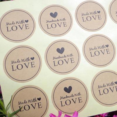 3d4a6e8410 120Pcs Love Craft Paper Sealing Stickers Wedding Favours Letter Gift Labels
