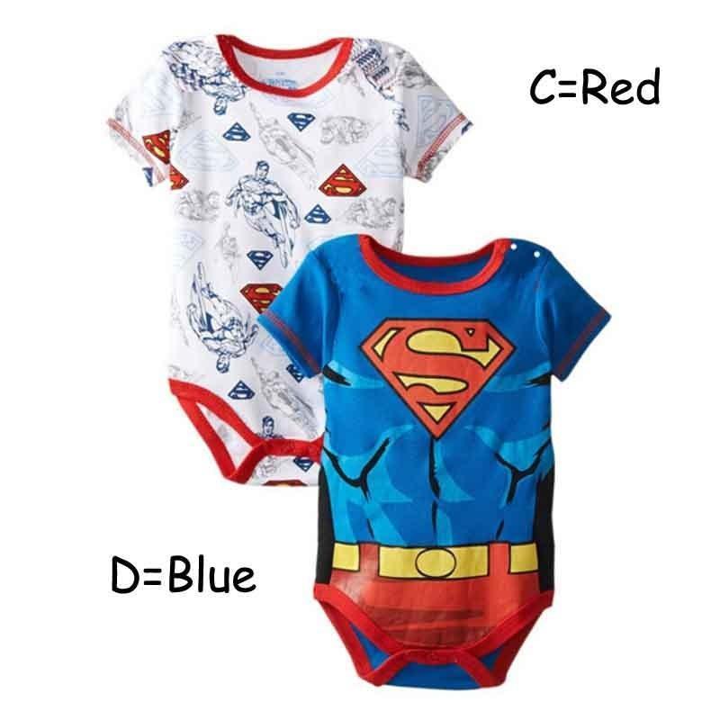 Моды Baby мультфильм комбинезон Супермен 40304b5d927c7