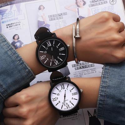 Romantic Big Dial Watch Leather Band Fashion Cute Wristwatch Drop Shipping Quartz Watches