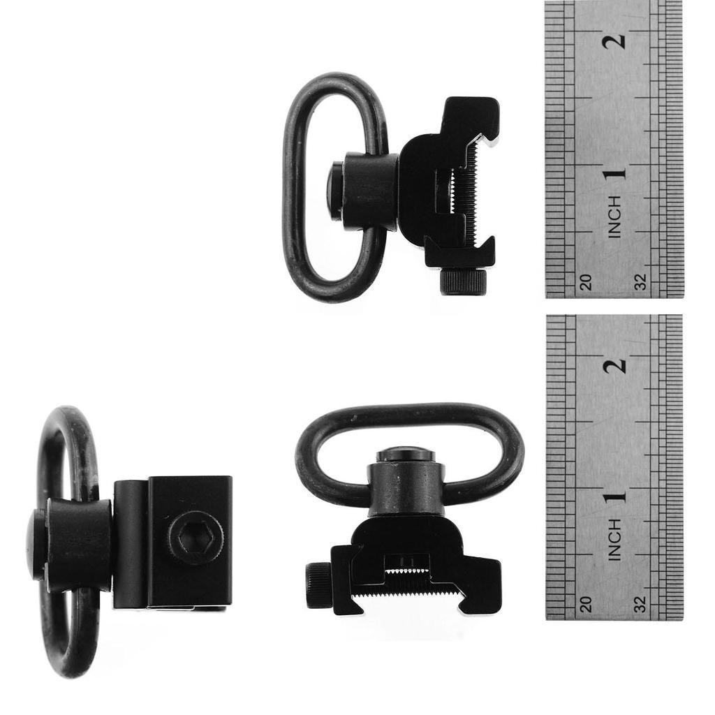 2 Push Button Quick Detach QD Sling Swivel Attachment /&20mm Picatinny Rail Mount