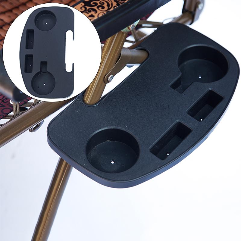 New Folding Reclining Garden Lounger Chair Accessory Clip On Drink Holder Tray