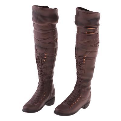 """1//6 KUMIK FS-15 en cuir femme à talon haut bottes chaussures f 12/"""" figure féminine corps"""