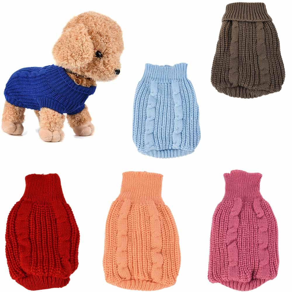 Ropa de mascota perro gato Puente punto caliente de invierno suéter ...