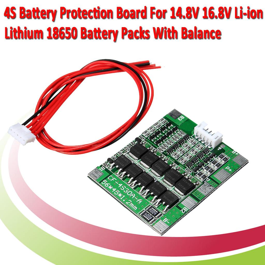 4s 30a 148v Li Ion Lithium 18650 Battery Bms Packs Pcb Protection Circuit Images Of 1 9