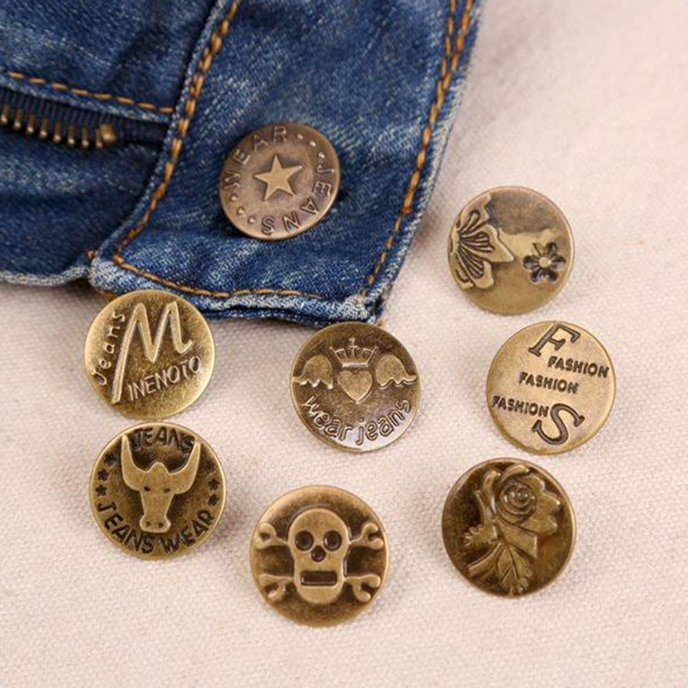 US 10PCS Clothes Buttons Buckle Accessories with Nails Kits Part for Jeans Coat