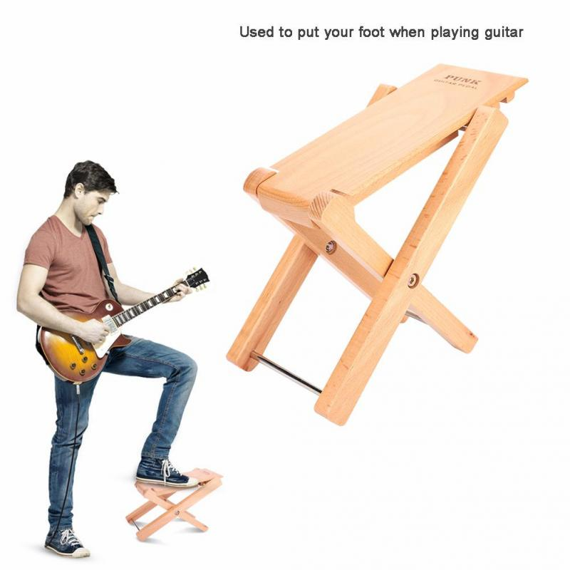 Peachy Guitar Guitarist Practice Foot Stool Folding Adjustable Rest Stand Beech Wood Squirreltailoven Fun Painted Chair Ideas Images Squirreltailovenorg