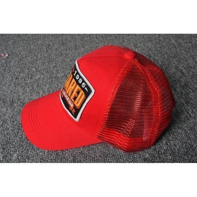 55c2a856087 Net Mesh Breathable Baseball Cap DSQ Red Blue Black Cotton Sun Hat Letters  Printed Cap Fashion