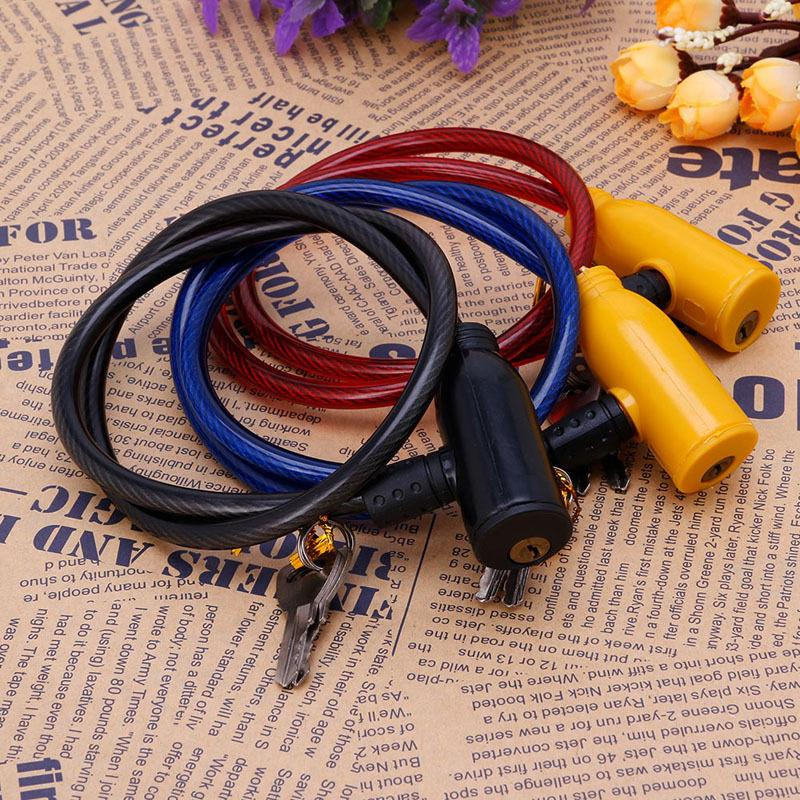 8x640MM Cycling Cable Anti-Theft Bike Bicycle Scooter Safety Lock With 2 Keys
