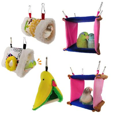 Home & Garden Bird Supplies Triangle Square Plush Nest Bird Parrot Hanging Cave Hammock Cage Warm Bed Toy Selected Material