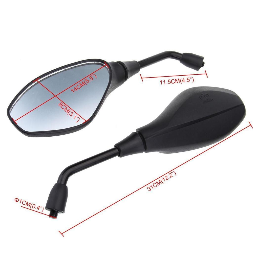 Side Mirrors Motorcycle Rearview for BMW F800GS F650GS F800R 2008-2011 ABS Black