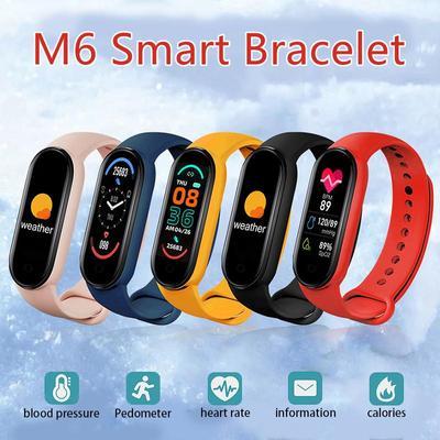 M6 1.56'' Full Screen Display Sports Watch IP67 Waterproof Wireless Tracker Heart Rate Monitor Bluetooth Smart Band6