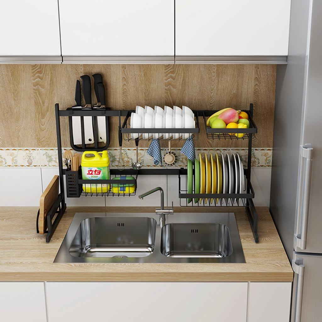 Buy Adjustable 65 95cm Stainless Steel Dish Rack Over The Sink Dish Drying Rack Holder At Affordable Prices Free Shipping Real Reviews With Photos Joom