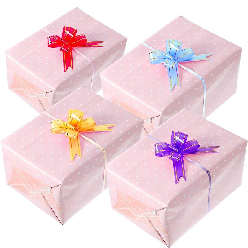 Box Decor Wedding Decoration Silk Curling Balloon Ribbon Roll Gifts Wrapping