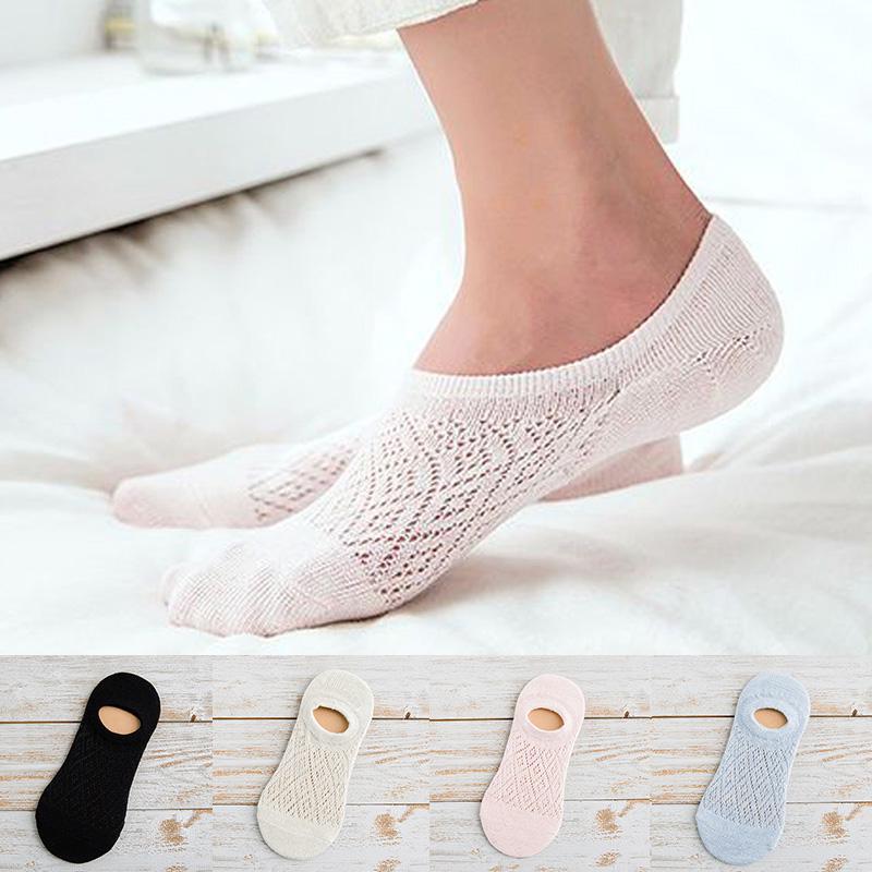 1 пара летние ботильоны носки полые из сетки ажурные моды эластичный хлопок носки невидимый фото