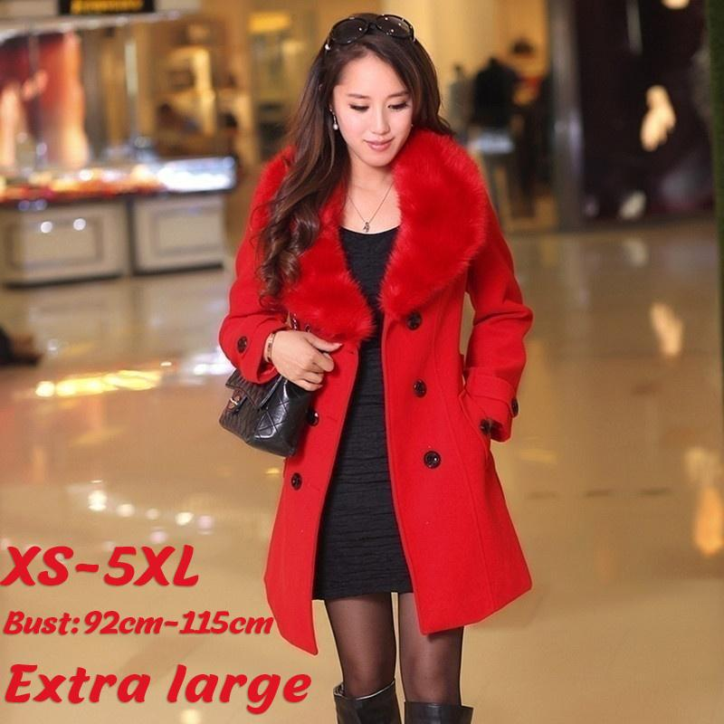 Womens Faux Leather Coat Extra Long Single-breasted Lapel 4XL 5XL Windbreaker L